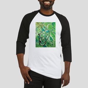 green abstract Baseball Jersey
