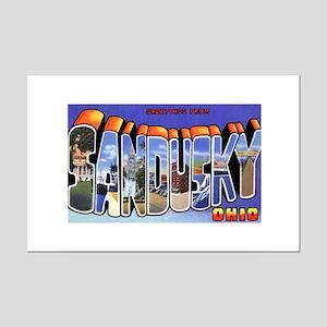 Sandusky Ohio Greetings Mini Poster Print