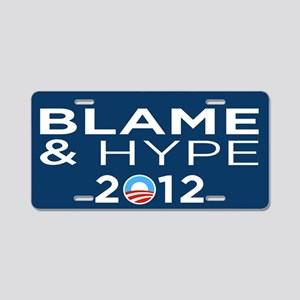 Hype & Blame 2012 Aluminum License Plate