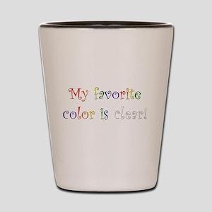 Favorite Color Clear Shot Glass
