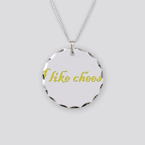 I like cheese Necklace Circle Charm