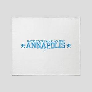 USNAannapolis Throw Blanket
