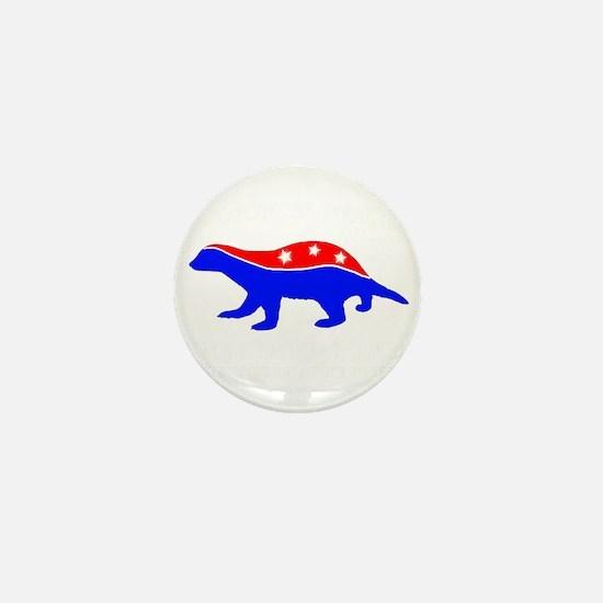 Honey Badger Party Mini Button