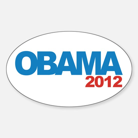 OBAMA 2012 Campaign Sticker (Oval)