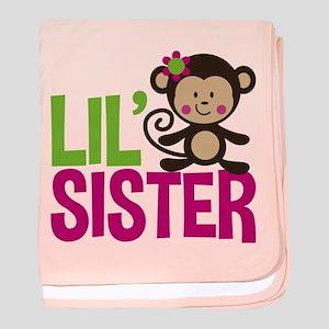 Monkey Little Sister baby blanket