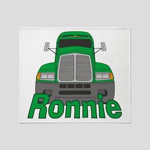 Trucker Ronnie Throw Blanket