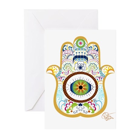 Hamsa/copper Greeting Cards (pk Of 10)