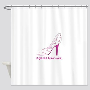 Stomp Out Breast Cancer Shower Curtain