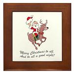 Merry Christmas To All Framed Tile