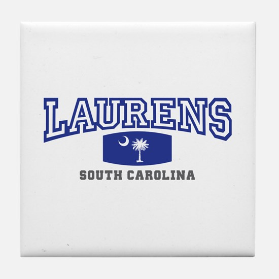 Laurens South Carolina, SC, Palmetto State Flag Ti