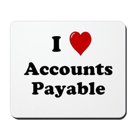 I Love Accounts Payable Mousepad
