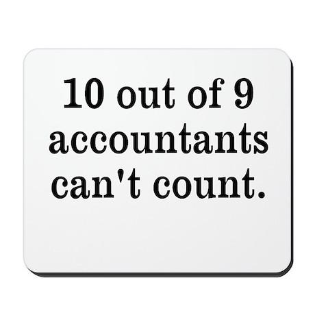 Accountant Joke Mousepad