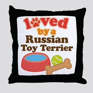 Russian Toy Terrier Dog Gift Throw Pillow