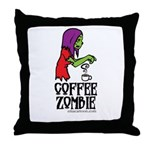 Coffee Zombie 2.0 Throw Pillow