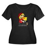 Chai Monster Women's Plus Size Scoop Neck Dark T-S