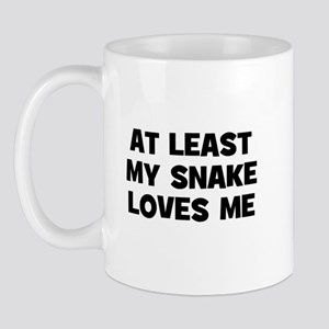 At Least My Snake Loves Me Mug