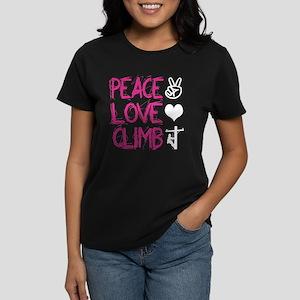 peace love climb pink white T-Shirt