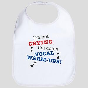 Im_Not_Crying_7x7 Baby Bib