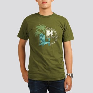 Pi Kappa Phi Palm Cha Organic Men's T-Shirt (dark)