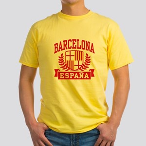 Barcelona Espana Yellow T-Shirt