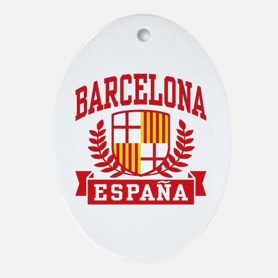 Barcelona Espana Ornament (Oval)