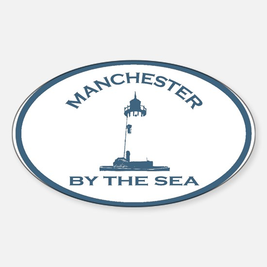 Manchester-By-The-Sea - Oval Design. Decal