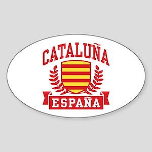 Cataluna Espana Sticker (Oval)