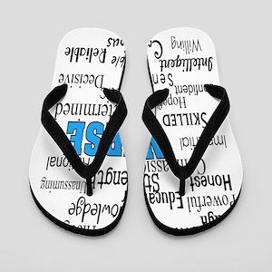 FF NURSE Blue Flip Flops