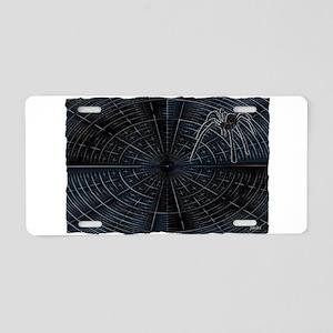 spiders web Aluminum License Plate