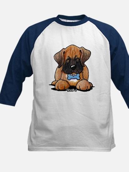 Boxer Puppy Kids Baseball Jersey