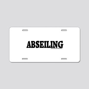 ABSEILING Aluminum License Plate