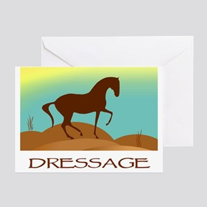desert dressage w/ text Greeting Cards (Package of