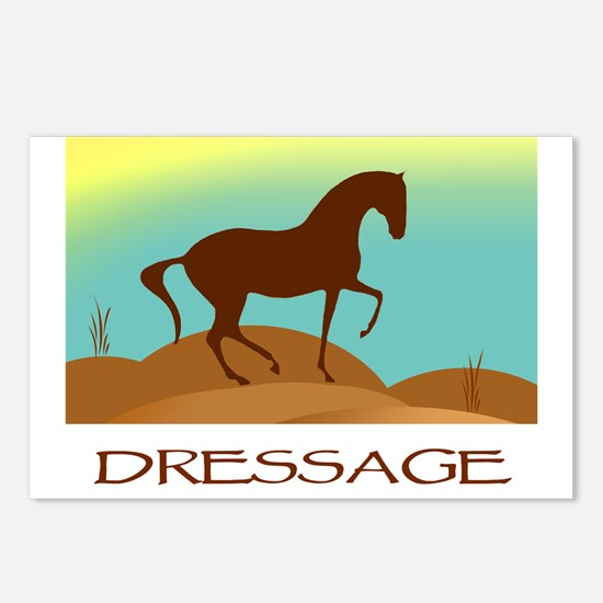desert dressage w/ text Postcards (Package of 8)