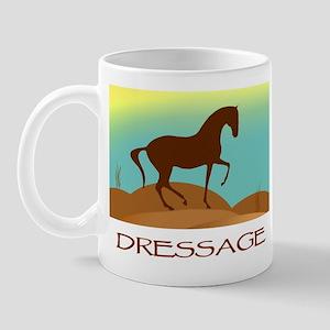 desert dressage w/ text Mug