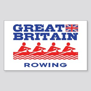 Great Britain Rowing Sticker (Rectangle)