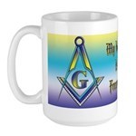 My husband is a Freemason! Large Mug