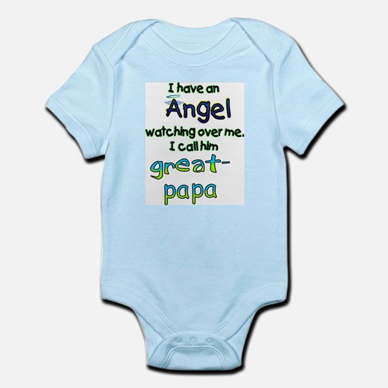 I HAVE AN ANGELGREAT PAPA.png Infant Bodysuit