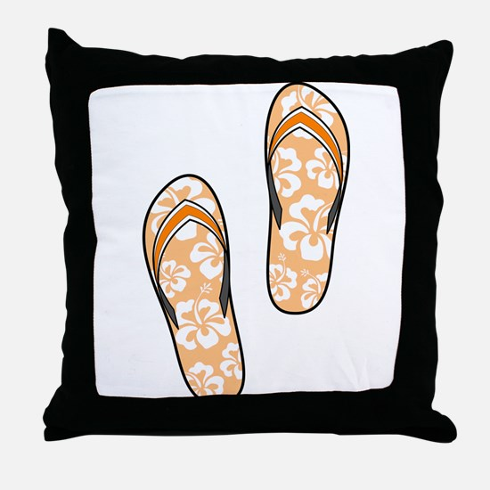 Orange Flops Throw Pillow