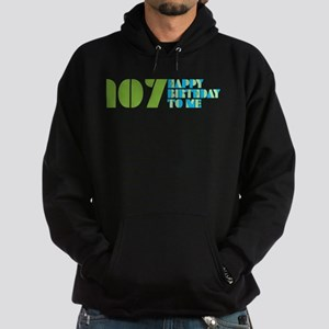 Happy Birthday 107 Hoodie (dark)