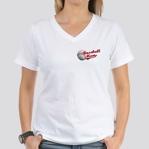 Baseball_Mom Women's V-Neck T-Shirt