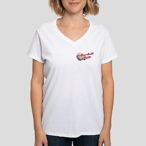 Baseball_Mom Women's V-Neck T-Shirt