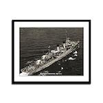 USS LEWIS HANCOCK Framed Panel Print