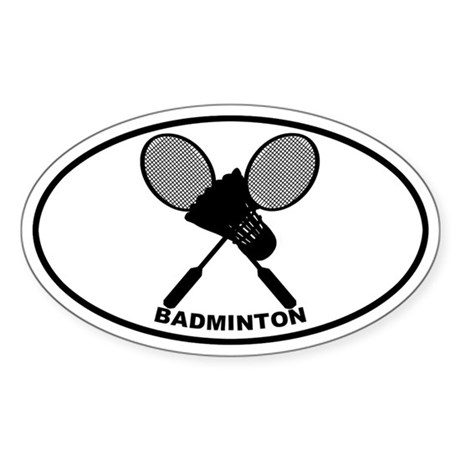 Badminton Oval Sticker