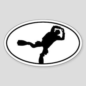 Scuba Diver Oval Sticker