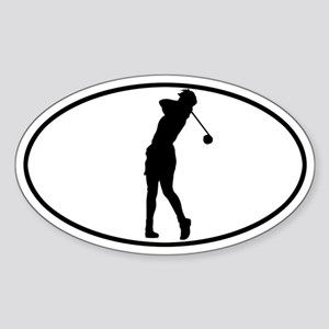 Golfer - Woman Oval Sticker