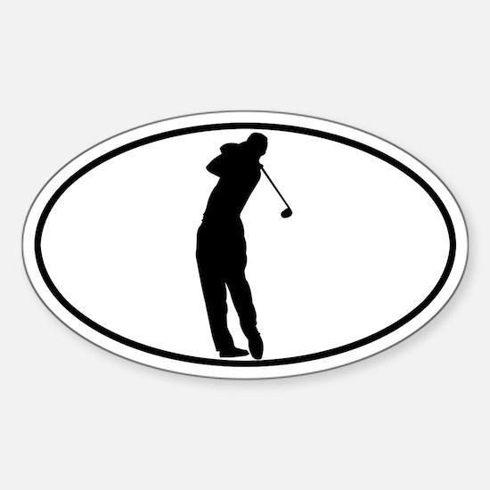Golfer - Man Oval Decal