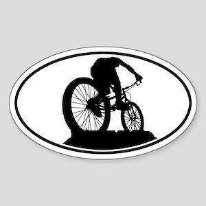 Mountain Biker Oval Sticker
