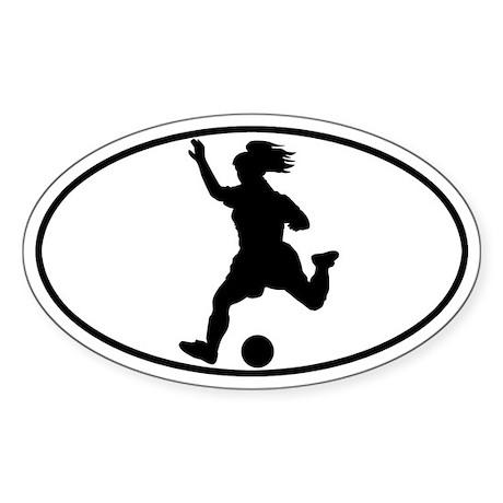 Soccer - Girl Oval Sticker