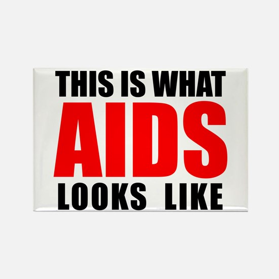 What AIDS looks like Rectangle Magnet