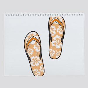 Orange Flops Wall Calendar